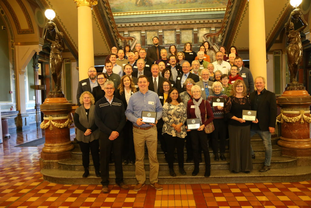 Best Development Award winners as a group on the grand staircase